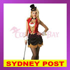 Ringmaster Magician Mistress Circus Lion Tamer Showgirl Fancy Dress Costume AU