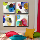 4 Pcs Contemporary Abstract Canvas Print Framed Wall Art Nursery Decor Painting