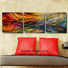 Set Of 3 Abstract Pattern Stretched Canvas Prints Framed Wall Art Decor Painting