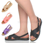 WOMENS LADIES PLATFORM CHUNKY CROSSOVER JELLY STRAPS BUCKLE SUMMER SANDALS SIZE