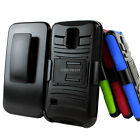 For Samsung Galaxy S5 MINI G800 Rugged Hybrid Hard Case Cover Belt Clip Holster