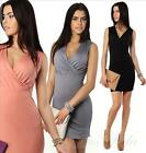 Dress Long Top Tunic Top with Over LAP Pender V Neck XS S 34 36, 8915