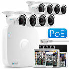 8x Full HD 1080P Colore IP Cam 8 Canale NVR Completo PoE HDMI P2P QR CCTV