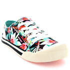 Womens Rocket Dog Jazzin Hawaii Dreams Floral Lace Up Casual Trainers UK 3-8