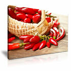 FOOD & DRINK Spice Pepper Canvas Framed Printed Wall Art 50 ~ More Size