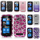 For T-Mobile Nokia Lumia 710 Colorful Design Bling Hard Case Cover Accessory
