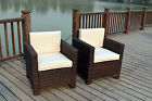 New X2 Single Chairs Rattan Wicker Conservatory Outdoor Garden Furniture Set