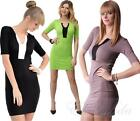Long Top Tunic 2 coloured Top in 7 Colours Size. 36 38 S M, 8474