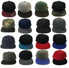Plain Baseball Blank Flap Bill Snapback Solid Two tone Color Adjustable Hat Cap