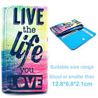 Universal Wallet G19 Card Purse Button Flip Case Cover For Many Phones+Stylus