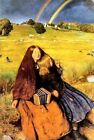 Blind Girl di Sir John Everett Millais Tela Pittura Immagine Stampa Fisarmonica