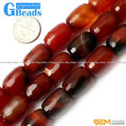 Faceted /Smooth Dream Lace Agate Gemstone Column Beads Free Shipping Strand 15""