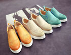 New Women Flat shoes Sneakers Synthetic Leather Slip-on Casual Platform Shoes XW