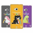HEAD CASE RAINBOW PUKE SILICONE GEL CASE FOR NOKIA LUMIA 535