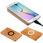 Wooden Face Qi Wireless Charger Pad for Samsung Galaxy S6 / S6 Edge Thrifty