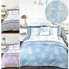 French Country Inspired Toile De Jouy Duvet Cover Set With Printed Illustrations