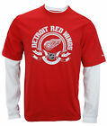 Reebok NHL Hockey Men's Detroit Red Wings Long Sleeve Thermal Novelty Shirt, Red