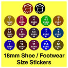 Shoe Size Stickers UK  Euro + Real / Genuine Leather Labels Slippers Boots etc