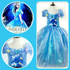 Kids Disney Cinderella Girls Princess Fairy Party Costume Dresses SZ AGE 4 to 9Y