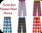 TOTAL GIRL size 4 5 6 or 6X choice PLAID Pajama cotton flannel Lounge Pant NWT