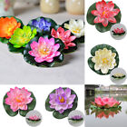 Artificial Lotus Water lily Floating Flower Garden Ornament Pool Pond Tank Plant