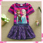 FROZEN Elsa & Anna Princess Birthday School Party Dresses Outfit AGE 3-4-5-6-7-8