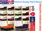 100% COTTON & POLY FITTED BED SHEET SINGLE DOUBLE KING SUPER KING LOT