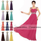 Beaded Cap Sleeve Bridal Gown Plus Size Prom Evening Party Dress Long Bridesmaid