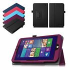 Folio Leather Stand Cover Case for WinBook TW802/TW801 8-Inch Windows 8.1 Tablet