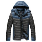 Fashion Men's Cotton Padded Coat Hooded Down Jacket Winter Warm Casual Outerwear