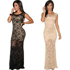 UK C8 New Womens Black Maxi Dress Summer Ball Cocktail Party Evening Dresses