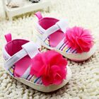 Toddler Baby girl rose red flowers crib shoes size 0-6 6-12 12-18 Month