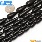 "Free Shipping Drop Black Agate Gemstone Loose Beads Strands 15"" Jewelry Making"