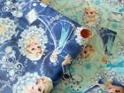 Disney Frozen Anna and Elsa Cotton Japanese Fabric / Half Yard
