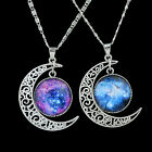 Trendy Jewelry Cheap Rhinestone Earth And Moon Pendant Necklace For Women