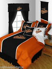 Baltimore Orioles Comforter Sham Valance Twin Full Queen King Size