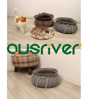 Pet Bed Dog Cat Home Round Bun Shape Premium Eco Friendly Material