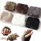NEW Womens Solid Faux Fur Half Palm Gloves Winter Warm 6 Color Mittens Fashion