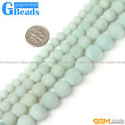 "Natural Amazonite Quartz Matte Frost Round Beads Free Shipping 15"" 4mm 6mm 8mm"