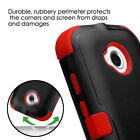 FOR MOTOROLA MOTO E (2nd Gen. 2015) BLACK RED TUFF CASE COVER +CLEAR SCREEN FILM