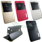 Custodia S View stand per Samsung Galaxy Note 4 N910F finestra touch flip cover