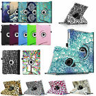 360 Rotating Case PU Leather Stand Cover For Apple iPad Wake/Sleep