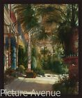 'THE PALM HOUSE' Indoor Tropical Garden Palm art FRAMED PRINT-Carl Blechen 34x40