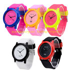 Unisex Men Women Sport Silicone Rubber Band Casual Jelly Gel Quartz Wrist Watch