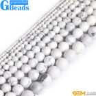 "Natural Round Gemstone HowliteJewelry Making Loose Beads Strand 15""Free Shipping"