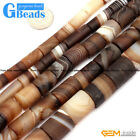 """Frosted Column Botswana Agate Beads Strand 15""""Loose Beads Free Shipping"""