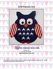 Patriotic Owl Wall Hanging-Plastic Canvas Pattern or Kit