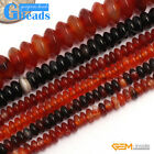 Colorful Agate Rondelle Loose Spacer Beads For Jewelry Making Free Shipping 15""
