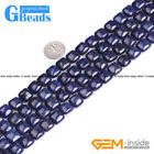 "Square Diagonal Gemstone Lapis Lazuli Loose Beads Strand 15""Free Shipping"