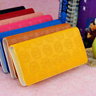Hot Type Stylish Prints Lettering Purse Women Leather Wristlet Wallet for Iphone